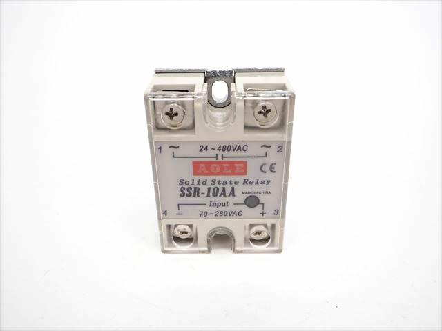 AC用 ソリッドステートリレー/半導体リレー SSR10AA(10A)の写真です。