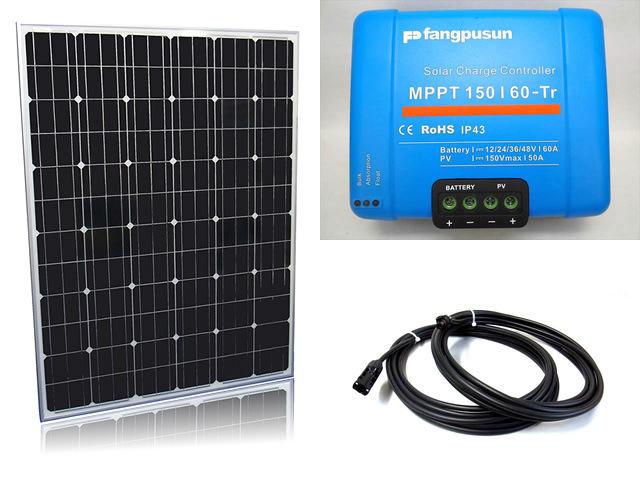 ソーラーパネル200W×16枚(3,200Wシステム:48V仕様)+Fangpusun MPPT150/60-Tr(60A)の写真です。
