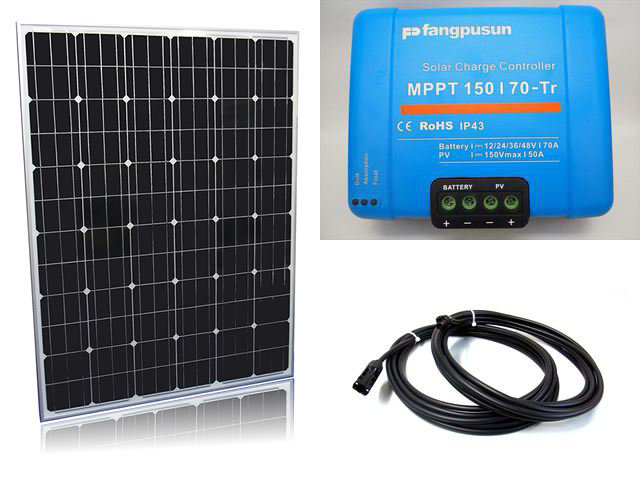 ソーラーパネル200W×16枚(3,200Wシステム:48V仕様)+Fangpusun MPPT150/70-Tr(70A)の写真です。