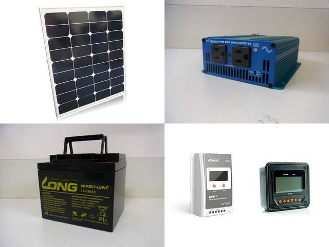 60W 太陽光発電システム SK200 Tracer1210A+MT50の写真です。