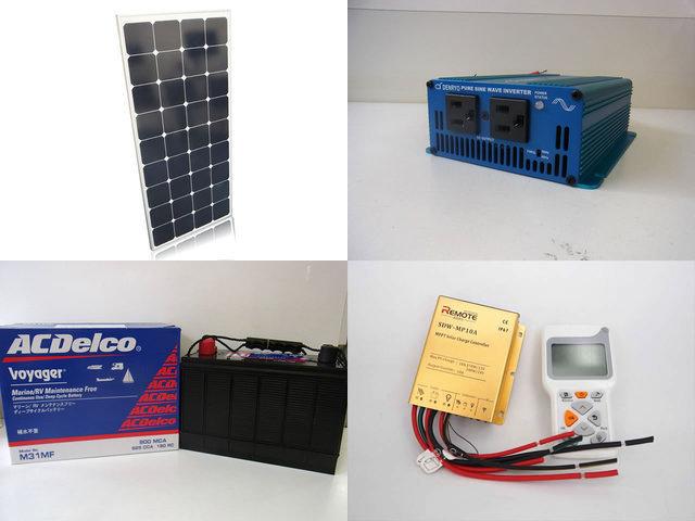 セミフレキシブルソーラーパネル120W 太陽光発電システム SK200 防水MPPT SDW-MP-1024(10A)+リモートコントローラー RC-3の写真です。