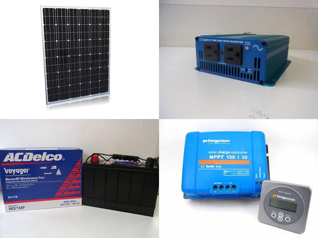 200W 太陽光発電システム(24V仕様) SK200 Fangpusun MPPT100/30+リモートコントローラー MPPT CONTROLの写真です。