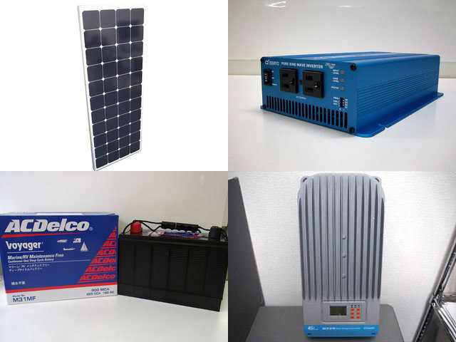 150W×4枚(600W)太陽光発電システム(48V仕様) SK700 ET6415BNDの写真です。