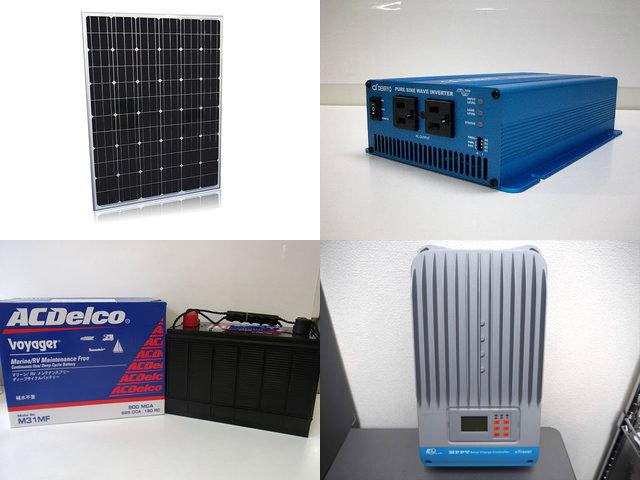 200W×4枚 800W 太陽光発電システム(24V or 48V仕様)  SK700 ET4415BND