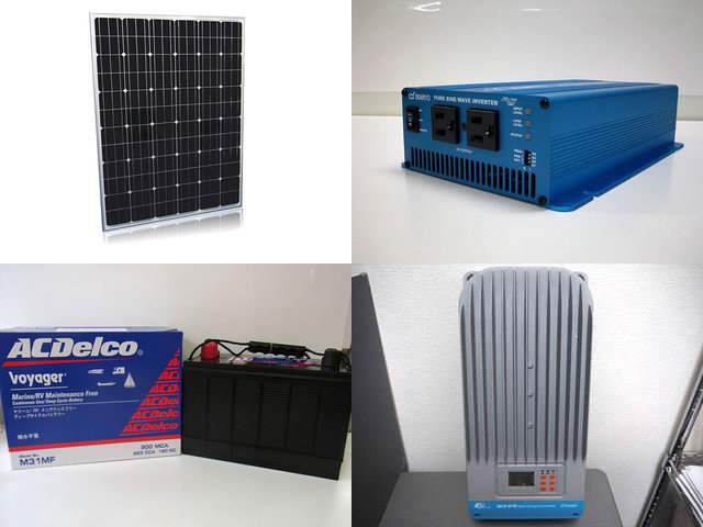 200W×8枚 1,600W太陽光発電システム(48V仕様) SK700 ET6415BNDの写真です。