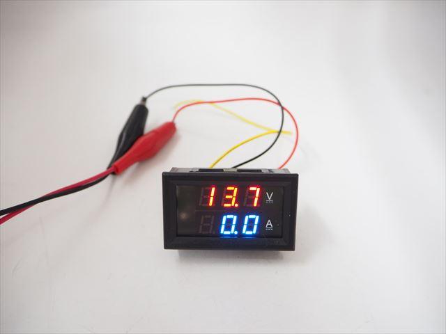 デジタル電圧計&電流計 パネルメーター(100A) ※シャント抵抗付きの写真です。