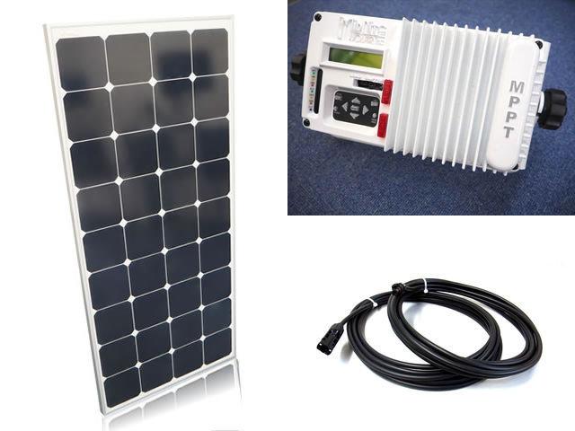 ソーラーパネル120W×6枚(720Wシステム)+MPPT マリン The Kid MNKID-M-W(30A)(MidNite Solar製:アメリカ) ※白の写真です。