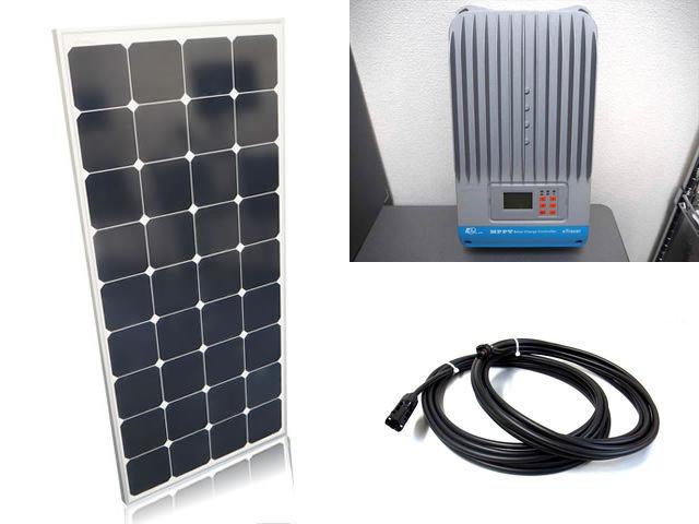 ソーラーパネル120W×6枚(720Wシステム)+eTracer ET4415BND(45A)の写真です。