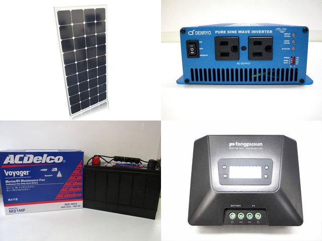120W×4枚(480W)太陽光発電システム(24V仕様) SK700 MPPT150/45Dの写真です。