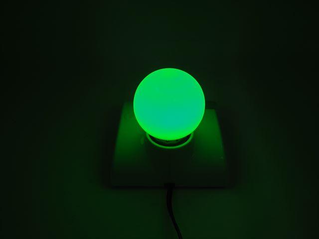 12V専用 E27(E26) 3W LEDバルブライト ※緑の写真です。
