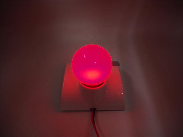 12V専用 E27(E26) 3W LEDバルブライト ※赤の写真です。