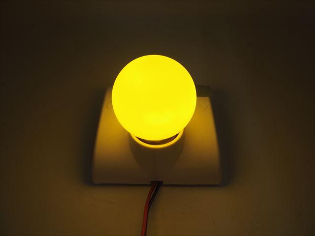 12V専用 E27(E26) 3W LEDバルブライト ※黄の写真です。