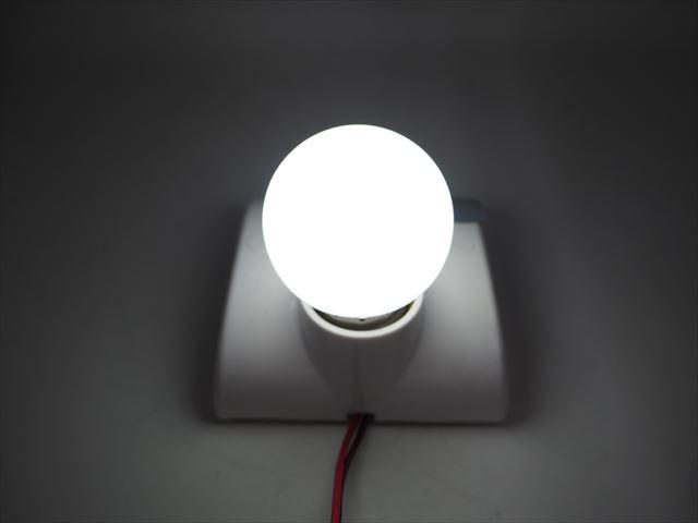 12V専用 E27(E26) 3W LEDバルブライト ※白の写真です。