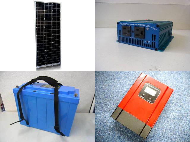 100W(35.5V)×2枚 200W 太陽光発電システム(48V仕様) SK200 eSmart3-20Aの写真です。
