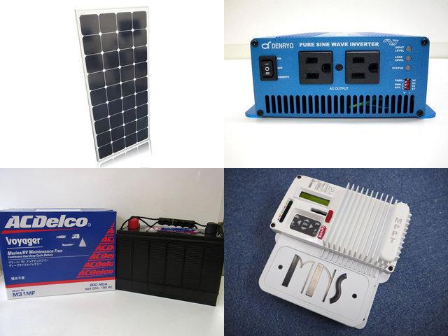 120W×2枚(240W)太陽光発電システム(24V仕様) SK700 MNKID-Wの写真です。
