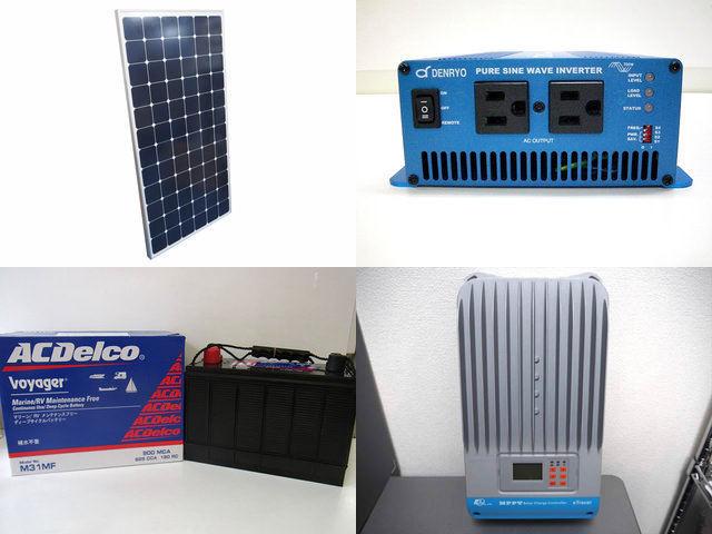 210W×2枚(420W)太陽光発電システム(24V仕様) SK700 ET4415BNDの写真です。