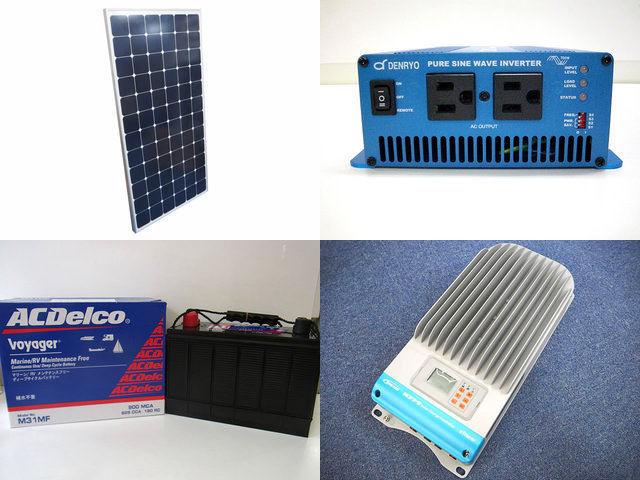 210W×3枚 630W 太陽光発電システム(48V仕様) SK700 ET6420BNDの写真です。