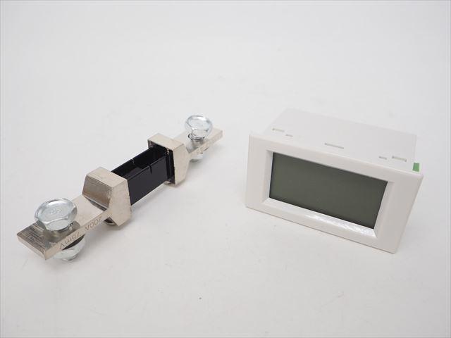 デジタル電圧計&電流計 パネルメーター(200A:DC0V-600V) ※シャント抵抗付の写真です。