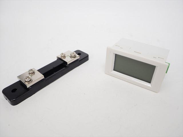 デジタル電圧計&電流計 パネルメーター(50A:DC0V-199.9V) ※シャント抵抗付の写真です。
