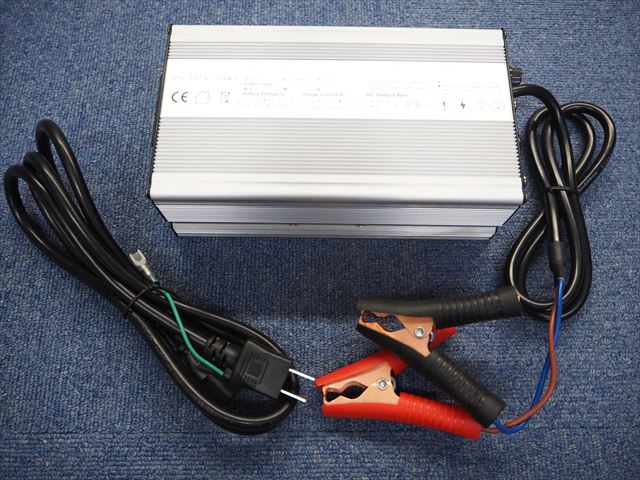 lifepo4 36V バッテリー充電器 UY600 10A(43.8V) ※バッテリークリップ付きの写真です。