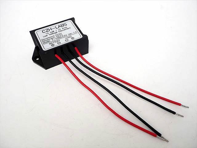 DC12Vバッテリー用 低電圧検知 切断モジュール F-1000(10A)の写真です。