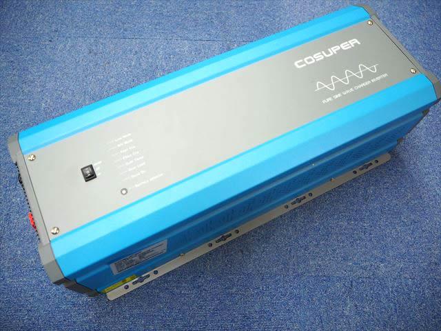 転送スイッチ付き充電器内蔵正弦波インバーター CPT5000-248 Ver.3(48V) ※AC200V出力(低電圧遮断設定、充電電流調整機能付き)の写真です。