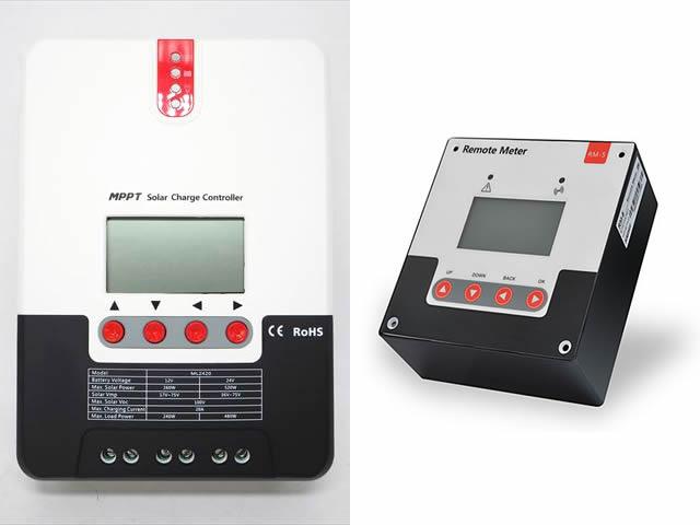 MPPTチャージコントローラー SR-ML2420(20A)+リモートメーター SR-RM-5
