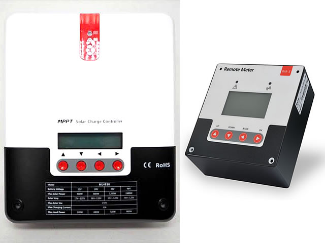 MPPTチャージコントローラー SR-ML4830(30A)+リモートメーター SR-RM-5