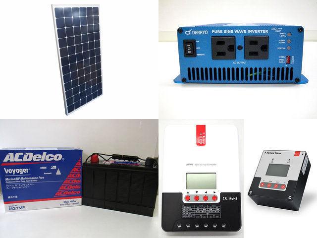 210W×2枚(420W) 太陽光発電システム(24V仕様) SK700 SR-ML2430+SR-RM-5の写真です。