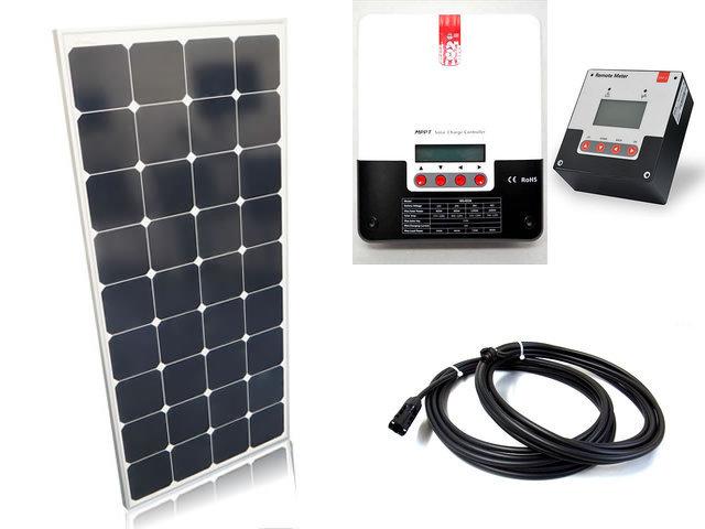 ソーラーパネル120W×6枚(720Wシステム:24V仕様)+SR-ML4830(30A)+ SR-RM-5の写真です。