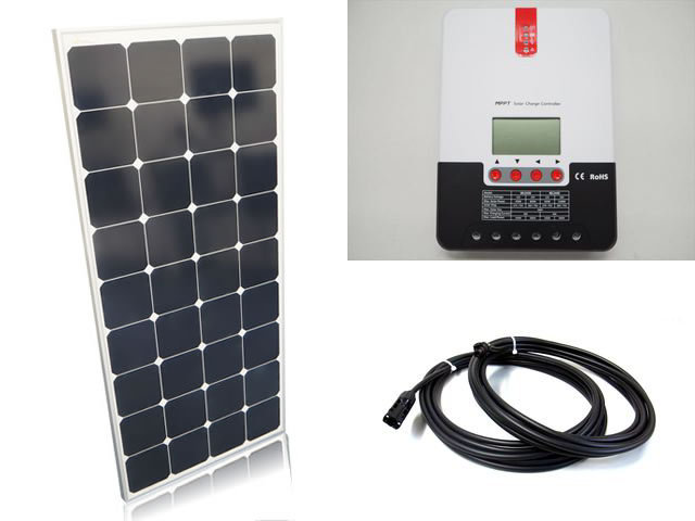 ソーラーパネル120W×6枚(720Wシステム:24V仕様)+SR-ML2440(40A)の写真です。