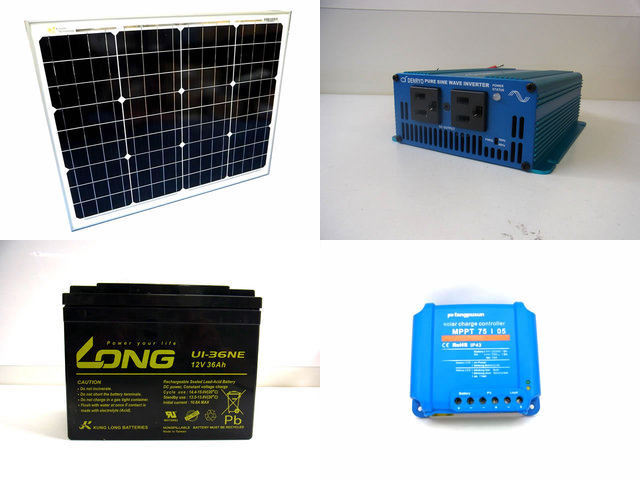 50W 太陽光発電システム SK200 Fangpusun MPPT75/05の写真です。