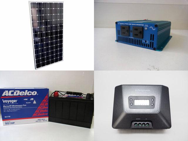 200W 太陽光発電システム(24V仕様) SK200 MPPT100/30Dの写真です。
