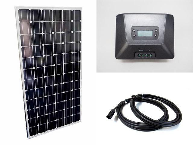 ソーラーパネル200W+Fangpusun MPPT100/50D(50A)の写真です。