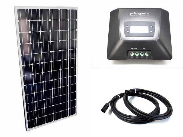 ソーラーパネル200W×8枚(1,600Wシステム:48V仕様)+Fangpusun MPPT150/45D(45A)の写真です。
