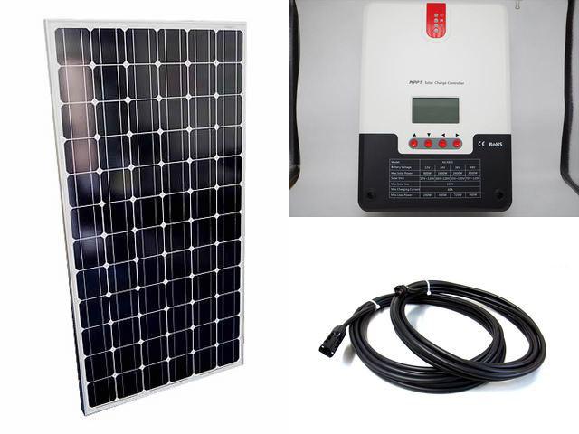 ソーラーパネル200W×8枚(1,600Wシステム:48V仕様)+SR-ML4860(60A)の写真です。