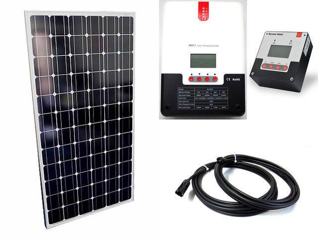 ソーラーパネル200W×8枚(1,600Wシステム:48V仕様)+SR-ML4860(60A)+ SR-RM-5の写真です。