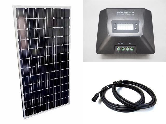ソーラーパネル200W×8枚(1,600Wシステム:48V仕様)+Fangpusun MPPT150/60D(60A)の写真です。