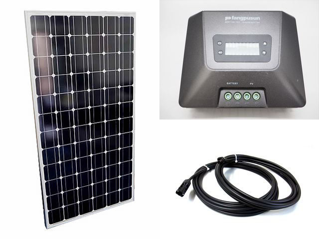 ソーラーパネル200W×8枚(1,600Wシステム:48V仕様)+Fangpusun MPPT150/70D(70A)の写真です。