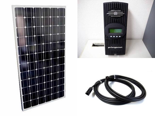 ソーラーパネル200W×8枚(1,600Wシステム:48V仕様)+Fangpusun FlexMax60(60A)の写真です。