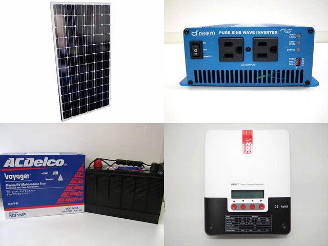 200W×4枚(800W) 太陽光発電システム(48V仕様) SK700 SR-ML4830