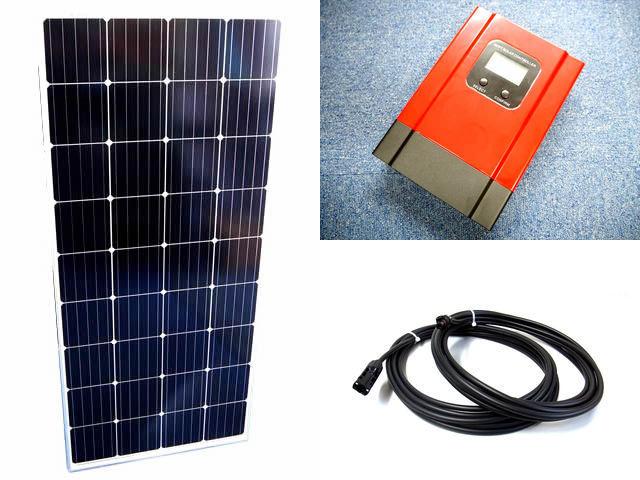 ソーラーパネル160W×4枚(640Wシステム:24V仕様)+eSmart3-30A