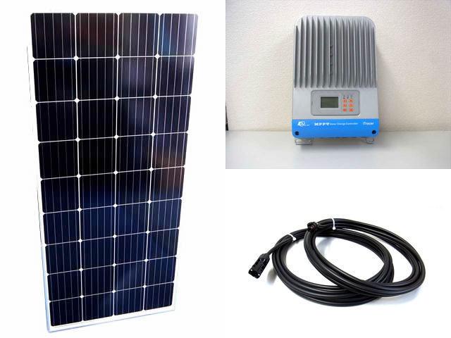 ソーラーパネル160W×8枚(1,280W)+iTracer IT4415NDの写真です。