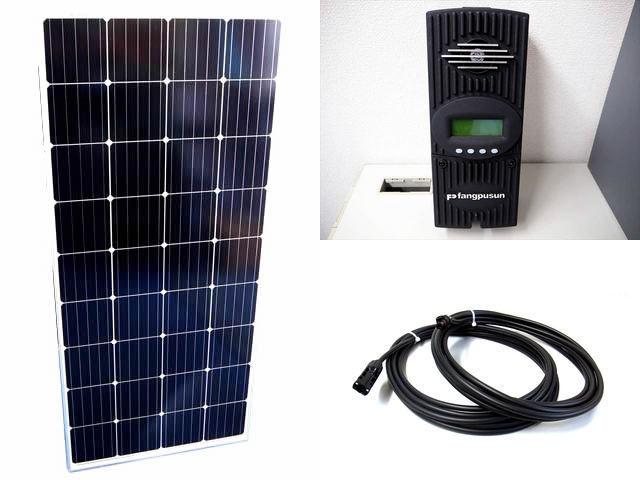ソーラーパネル160W×8枚(1,280W)+Fangpusun FlexMax60(60A)の写真です。