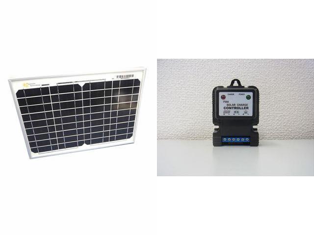 ソーラーパネル10W+SJ3A(3A)※12V専用の写真です。