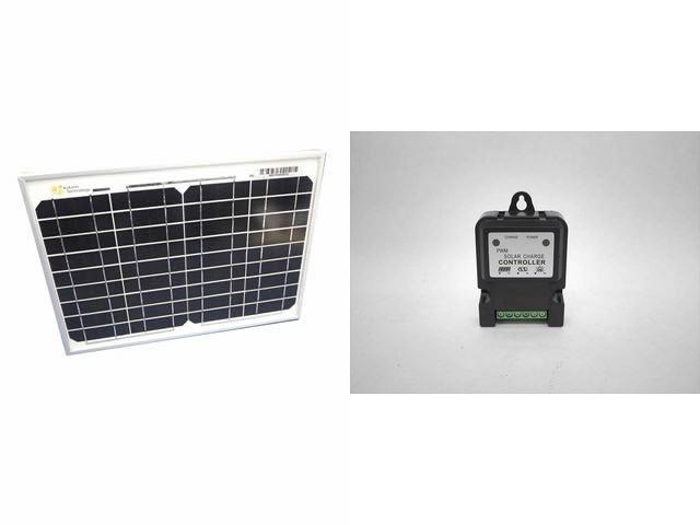 ソーラーパネル10W+DHS-3S(3A) ※6V/12V専用の写真です。