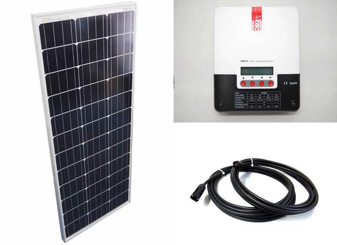 ソーラーパネル100W×10枚(1,000Wシステム:48V仕様)+SR-ML4830(30A)の写真です。