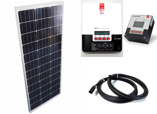 ソーラーパネル100W×10枚(1,000Wシステム:48V仕様)+SR-ML4830(30A)+ SR-RM-5の写真です。
