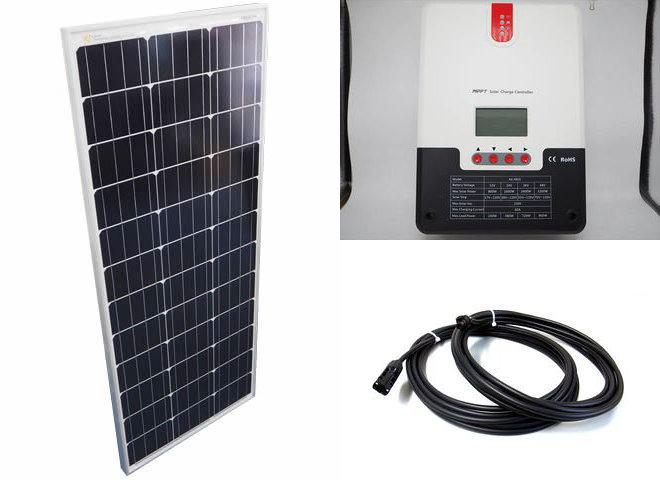 ソーラーパネル100W×10枚(1,000Wシステム:48V仕様)+SR-ML4860(60A)の写真です。