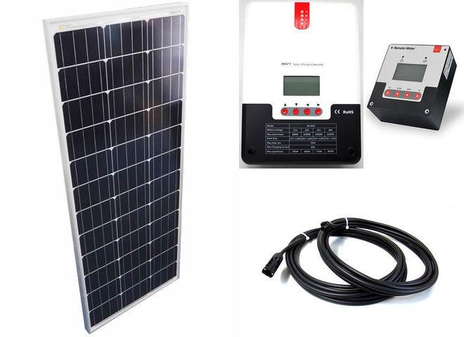 ソーラーパネル100W×10枚(1,000Wシステム:48V仕様)+SR-ML4860(60A)+ SR-RM-5の写真です。